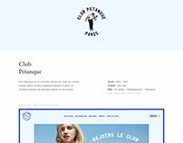 Club Petanque - Website & Illustrations