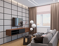 3D Visualization of livingroom Design by Modari_design.