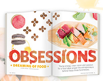 Obsessions, Dreaming of Food | Magazine Design