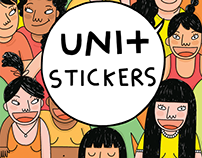 Uni+ Campaign Stickers