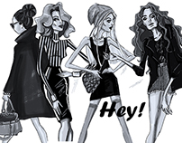 Hey! | fashion illustration