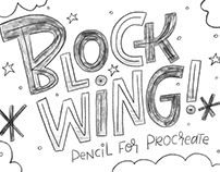 Blockwing Pencils for Procreate