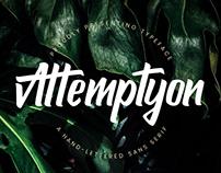 ATTEMPTYON - FREE SANS SERIF TYPEFACE