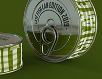 3d modeling and rendering /tin can - mockup