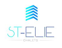 chalets logo and social media