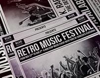 Retro Music Festival Poster