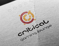 "Logotype ""Critical - gaming lounge"""