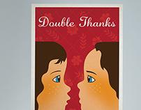 Postcard Design: Double Thanks