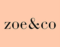 IDENTITY AND LOGO DESIGN FOR ZOE&CO | 2018