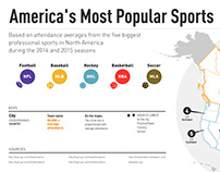 Infographic for Experian: America's Most Popular Sports