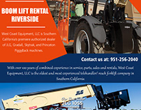 Boom Lift Rental Riverside||westcoastequipment.us||1-95