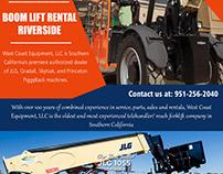 Boom Lift Rental Riverside||westcoastequipment.us||1-95