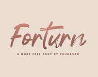Forturn free font for commercial use