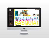 i-D Magazine: web design
