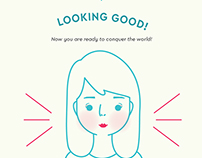 How I Put on My Face Infographic