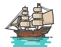 Pirate Ships Illustrations