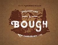 Bough. Vintage hand drawn font.