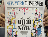 New York Observer Cover: How the Rich Live Now