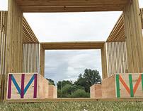 Secret garden party pavilion