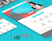 Landing page Up Me - Advertising agency / website
