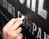 Chalk board typography