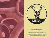 Carte de menu Le Smash