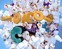 Popcorn Club | logo animation