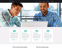 Internet WordPress theme Example for computer repairer