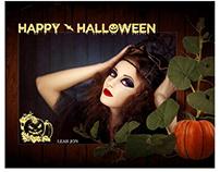 Halloween photography Template