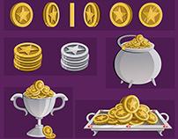 Monedas Estrella para juegos