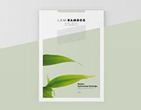 Lam'Bamboo Naturel Bamboo Brochure Design