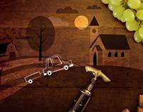 Illustrations for an Italian wine tasting service.