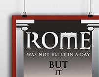 Rome - Typographic Poster (2014)