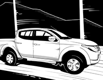 Mitsubishi Visuals Pitch Styleframe