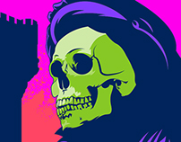 Shakespearian Skeletor Poster