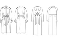 Trench Coat | Technical Sketches
