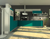 Kitchen modeling for BAUFORMAT & BUGER KUCHEN