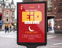 Free Eid Mubarak Flyer Psd