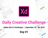 Daily Creative Challenge - Adobe XD | Day #1