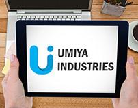 Umiya Industries Logo Design