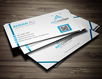 Creative Corporate Business Card (Free Download)
