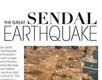 a small publication design on Japan Earthquake