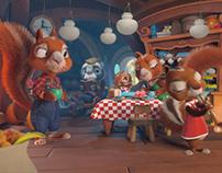 """CHRISTMAS NEAR THOSE WHO LOVE"" 3D Animation"