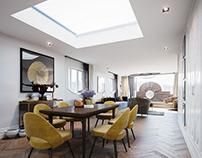 Tavistock Penthouse Living space