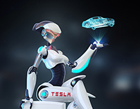 TESS the Robot Spokesmodel Exploration