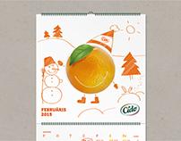 Wall Calendar for a Juice Brand CIDO