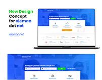 Eleman.net Redesign. 2019 UX Design Concept.