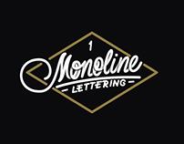 Monoline Lettering