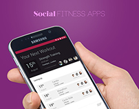 Social Fitness Apps UI