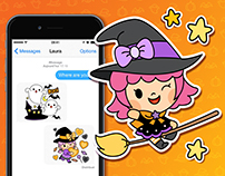 Cute Halloween Sticker Set!